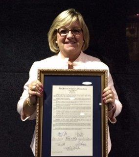 Kate Muldoon Award from Passaic County Board of Chosen Freeholders